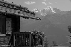 This shot frames a chalet in Verbier with the glacier on the Grand Combin in the background, showing the elements of a summer in the alps. Alps, Summer, Photography, Travel, Collection, Summer Time, Photograph, Viajes, Fotografie
