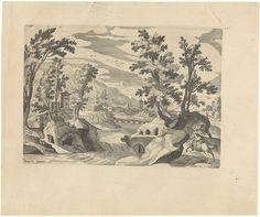 Landschap met ruiter, Johann Sadeler (I), Aegidius Sadeler, anoniem, 1580 - 1600 Landsknecht, Vintage World Maps, Travel, Viajes, Destinations, Traveling, Trips