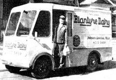 One of a fleet of 30 Smith's Electric Trucks with Paulger's Blantyre Dairy on Queen Street East.In 1935, Toronto's City Hall council tried to ban night delivery of milk, but the by-law did not pass. So, at 3 a.m. you could still hear the clip-clop of old Nellie the milkman's horse, the steel wheels of her wagon and the rattling of milk bottles in the milkman's eight quart basket.September of 1954 that the City passed a noise by-law which prevented milk delivery from starting before 7 a.m.