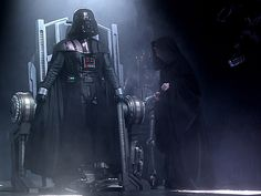 Possibly the coolest scene ever - Darth Vader suiting up. He is the best Character ever.