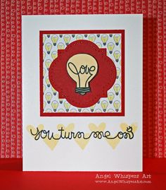 Turn Me On Valentine card made with Paper Smooches Stamps