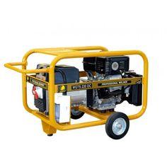 La Motosoldadora-generador Benza WGTS 220 DC está fabricado con motor Subaru EX 40 14HP - Cilindrada = 404 cc  - Arranque = Eléctrico - Depósito combustible 7 Ltrs. Peso 114,2 kg.