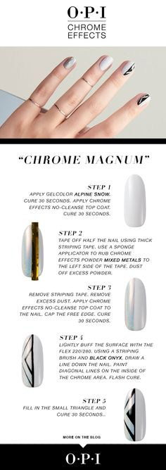 """The step by step guide to headturning nail art. Try """"Chrome-Magnum"""" on our YouTube https://youtu.be/5vXJ9MJR2SU"""