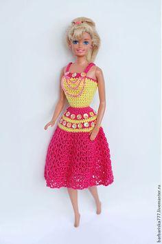 Одежда для кукол ручной работы. Заказать Платья с пайетками. Барбариска. Ярмарка Мастеров. Вязание, для девочки
