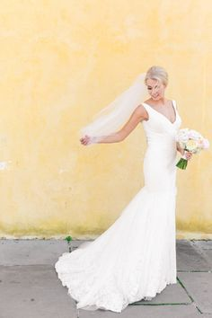 Bride solo shot | Classic Downtown Charleston Wedding at the William Aiken House | Dana Cubbage Weddings | Charleston SC Wedding Photography