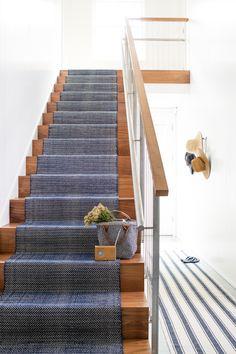 Montauk HerringboneIndigo Stair Runner