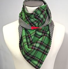 #AutomneHiver #WeTwo #Foulard #Laine / Jacquard #Vert