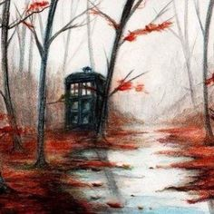 TARDIS... Wish I'd stumble on one of these in the woods. I would take it home with me and keep it forever.