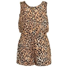 Real Love Little Girls Tan Brown Leopard Pattern Sleeveless Jumper 4. A great jumper from Real Love for an edgy touch. Tan brown leopard patterned sleeveless jumper. Tie accent at waist and cut-out back detail. Material: 100% Polyester. Care Instructions: Machine wash cold with similar colors, use only non chlorine bleach when needed, tumble dry low remove promptly, cool iron if necessary. Sizing is based on U.S. clothing size standards.