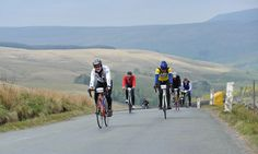 Up hill, and down dale … Etape du Dales entrants near Ingleton in Yorkshire.