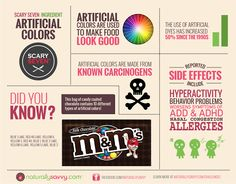 """Artificial colors? NO! Natural colors made from fruits & vegetables? YES! Take our """"Scary Seven - Artificial Colors"""" Challenge to learn why artificial dyes should be avoided at all cost: www.challenges.NaturallySavvy.com. Naturally Savvy is here to help you #gethealthy! #naturallysavvy #food #labellesson #GMOs #nonGMO #foodingredients #cleaneats"""