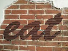 EAT sign in Kansas Barn Tin Junk Rusty wall decor #kitchen #wallart #word #rusty #galvanized #barntin #eat #diner