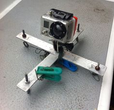 GoPro picavet for kite aerial photography flying on a kitefrom a sailboat