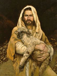 Bind Up the Brokenhearted, a painting by artist Sandy Freckleton Gagon God and Jesus Christ Paintings Of Christ, Jesus Painting, Lord Is My Shepherd, The Good Shepherd, Lds Art, Bible Art, Première Communion, Pictures Of Jesus Christ, Saint Esprit