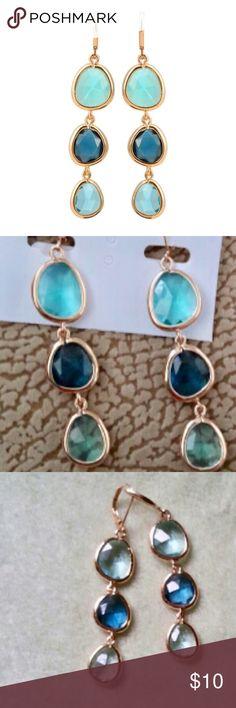 Beautiful sea shades drop earrings! NWT retail Beautiful drop earrings! NWT retail Jewelry Earrings