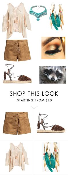 """""""Pocahontas"""" by thatimr ❤ liked on Polyvore featuring Aquazzura, chloah and Boohoo"""
