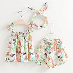Baby clothes, Kids Clothes, Toddler Clothes - Buy Kids clothes at cheap price Toddler Girl Outfits, Kids Outfits, Short Niña, Moda Kids, Baby Dress Patterns, Summer Girls, Baby Wearing, Kids Fashion, Fashion Clothes