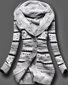 Adorable Full Sleeves Norwegian Style Sweater Fashion
