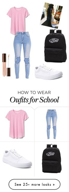 """""""First day of school"""" by alexisisthebom on Polyvore featuring Gap and Vans"""