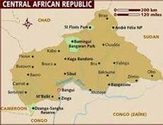 Map of Central African Republic Africa Map, Africa Travel, French West Africa, Congo, Geography, Fun Facts, African, San, Places