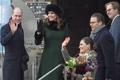 he Duke and Duchess of Cambridge Prince William and Catherine had lunch with Princess Victoria of Sweden and her husband Prince Kate Middleton Prince William, Prince William And Catherine, Princess Victoria Of Sweden, Crown Princess Victoria, Swedish Royals, British Royals, Duke And Duchess, Duchess Of Cambridge, Duchesse Kate