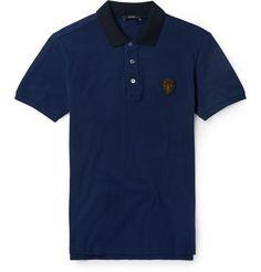 GucciSlim-Fit Cotton-Blend Polo Shirt
