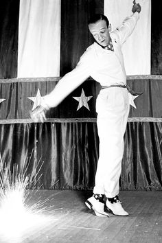 "Fred Astaire performs his firecracker dance number from the movie ""Holiday Inn"", 1942."