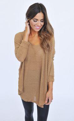 Oversize Knit Sweater- Mocha - Dottie Couture Boutique