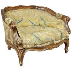 Cute Louis XV Style Walnut Childs Bergere Chair