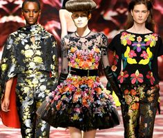 Winter floral catwalk inspiration: Osman, McQ, Osman