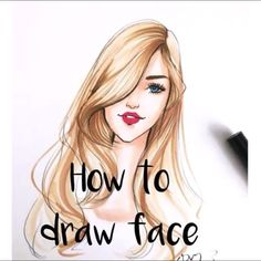 Fashion illustration tutorial of how to draw face by houston fashion illustrator Rongrong DeVoe. Visit her Instagram for more ! @Rongrong_DeVoe_Illustration