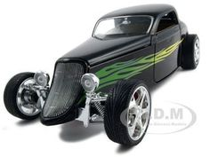 1933 Ford Coupe Diecast Car Model 1/18 Black Die Cast Car By Yat Ming