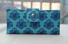 Handmade womens wallet doctor who handmade clutch tardis. $55.00, via Etsy.