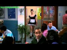 Sheldon Wearing a Maid Costume - The Big Bang Theory