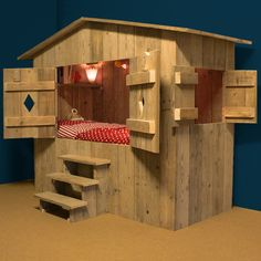 This one may be the winner. Looks super easy and a perfect fit for a camping bedroom. Only I'd add cubbies for storage.