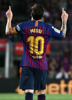 a17e90d65c2 Leo Messi goal celebration during the match between FC Barcelona and  Deportivo Alaves
