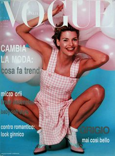 i remember this vogue cover from Jan 1994 because Linda Evangelista was always my favorite model