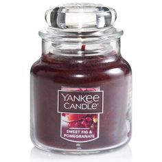 Sweet Fig & Pomegranate Small Jar Candle by Yankee Candle®,
