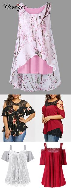 Free shipment worldwide, up to off, rosegal plus size casual tops tank tops . - Rosegal - - Free shipment worldwide, up to off, rosegal plus size casual tops tank tops . Sewing Clothes Women, Trendy Clothes For Women, Trendy Dresses, Nice Dresses, Casual Dresses, Casual Clothes, Casual Outfits, Style Clothes, Summer Fashion Outfits