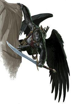 Flying gorilla warrior