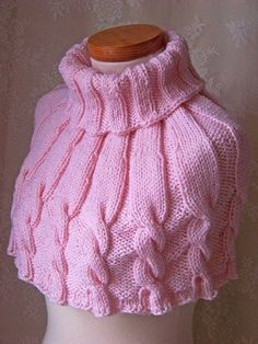 My Crochet Dream Chunky Knitting Patterns, Loom Knitting, Knitting Stitches, Knit Patterns, Free Knitting, Baby Knitting, Knitting Machine, Knitted Capelet, Crochet Shawl