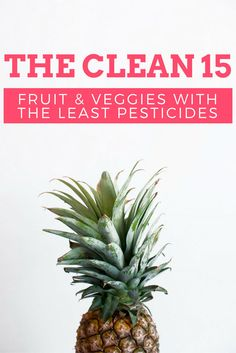 The Clean 15:  Fruits & Veggies With the Least Pesticides. Saving this for my shopping list!
