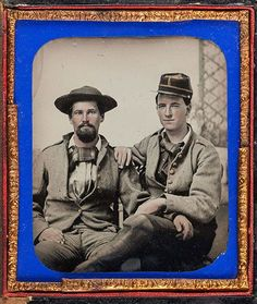 """Charles Henry Lanneau, """"[Fincher Brothers, Company I, """"Zollicoffer Rifles,"""" Forty-third Regiment, Georgia Volunteer Infantry, Army of Tennessee],"""" 1863, ambrotype."""