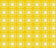 hollywood trellis gold fabric by ninaribena on Spoonflower - custom fabric