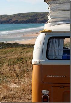 VW campervan at the beach :)