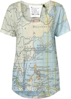 Map Print Tee By Tee And Cake