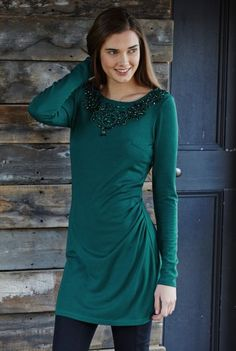 a41cfba0cb9 Beaded Necklace Longline Tunic from Long Tall Sally Long Tall Sally,  Clothing For Tall Women