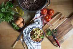 Borlotti Beans in Tomato Sauce with Creamy Polenta