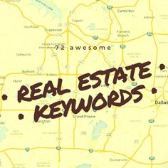 Are you looking to get better at SEO in real estate? These 72 real estate keywords will help you craft the best online presence for your website possible.