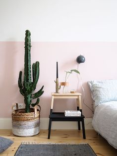 Minimal Pink \ Bedroom Interior Design \ Home Decor Half Painted Walls, Home Decor Inspiration, Room Decor, Room Inspiration, Decor, Bedroom Decor, Bedroom Inspirations, Home Bedroom, Home Decor